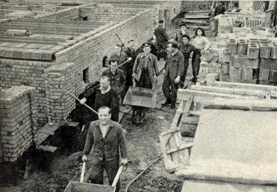 Bau des Heinrich-Heine-Viertels